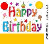 happy birthday   Shutterstock . vector #188199116