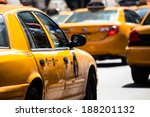 yellow cab speeds through times ... | Shutterstock . vector #188201132