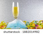 A Glass Of Sparkling Wine  A...
