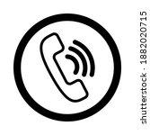 phone icon. phone call vector. ...