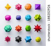 3d abstract geometrical... | Shutterstock . vector #188202926