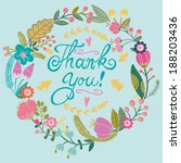 beautiful greeting card with...   Shutterstock .eps vector #188203436