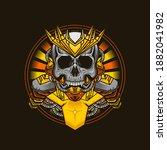 illustration of king cyborg... | Shutterstock .eps vector #1882041982