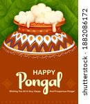 illustration of happy pongal... | Shutterstock .eps vector #1882086172