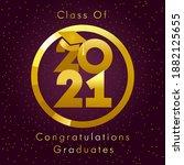 class of 2021 year graduation... | Shutterstock .eps vector #1882125655
