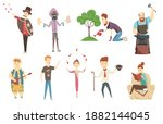 adult people and their creative ... | Shutterstock . vector #1882144045