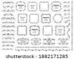 decorative swirls or scrolls ... | Shutterstock .eps vector #1882171285