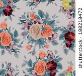 seamless floral pattern with of ... | Shutterstock .eps vector #188218472