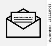 envelope icon vector. message...