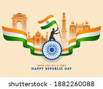 india famous monuments with... | Shutterstock .eps vector #1882260088