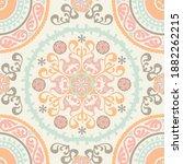 seamless medallion vintage... | Shutterstock .eps vector #1882262215