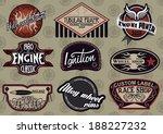 vector set of customizable... | Shutterstock .eps vector #188227232