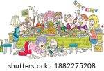 joyous celebration with funny ... | Shutterstock .eps vector #1882275208