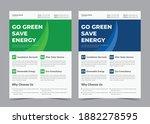 go green save energy flyer ... | Shutterstock .eps vector #1882278595