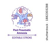 Post Traumatic Amnesia Concept...