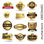 badges tag label sticker gold... | Shutterstock .eps vector #188236682
