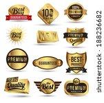 badges tag label sticker gold... | Shutterstock .eps vector #188236682