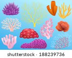 collection of colorful corals... | Shutterstock .eps vector #188239736
