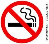no smoking sign vector icon... | Shutterstock .eps vector #1882397815