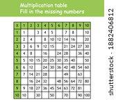multiplication square. paste... | Shutterstock .eps vector #1882406812