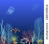 underwater background with...   Shutterstock .eps vector #188240816