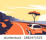 vector illustration of a red... | Shutterstock .eps vector #1882471525