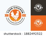minimalist and simple chicken... | Shutterstock .eps vector #1882492522