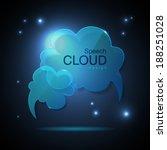 website template design. cloud... | Shutterstock .eps vector #188251028