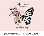 flower and butterfly butterfly  ... | Shutterstock .eps vector #1882525258