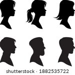 set of portraits of men and... | Shutterstock .eps vector #1882535722