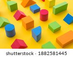 Set of colorful geometric cube...