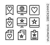favorite icon or logo isolated...