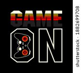 game on typography graphic... | Shutterstock .eps vector #1882699708