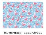 horizontal seamless pattern of... | Shutterstock .eps vector #1882729132