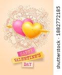 valentines day festive card....   Shutterstock .eps vector #1882772185