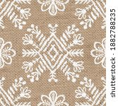seamless burlap with white... | Shutterstock . vector #1882788235