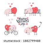 big set of happy valentines day ... | Shutterstock .eps vector #1882799488