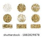 set of gold rubber stamp.... | Shutterstock .eps vector #1882829878