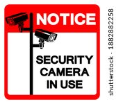 notice security camera in use... | Shutterstock .eps vector #1882882258