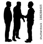 black silhouettes of three men... | Shutterstock .eps vector #188288405