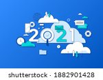 infographic concept  2021  ... | Shutterstock .eps vector #1882901428