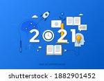 infographic concept  2021  ...   Shutterstock .eps vector #1882901452