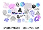 digital shapes. abstract... | Shutterstock .eps vector #1882903435