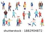 winter people. cartoon men and...   Shutterstock .eps vector #1882904872