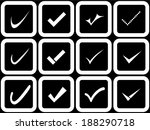 vector confirm icons set. yes... | Shutterstock .eps vector #188290718
