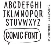 vector font. hand drawn... | Shutterstock .eps vector #188292842