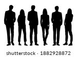 vector silhouettes of  men and... | Shutterstock .eps vector #1882928872