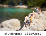 Miniature Figurine An A Beach...
