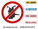 no joker sign with words in...   Shutterstock .eps vector #1882944352