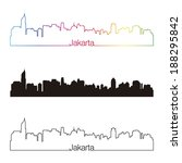 jakarta skyline linear style... | Shutterstock .eps vector #188295842